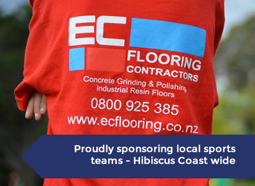EC-Flooring Proud sponsors of Hibiscus coast sports