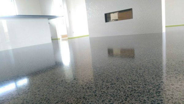 polished concrete project