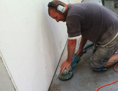 Concrete Grinding To Prep For Alternative Floor Coverings