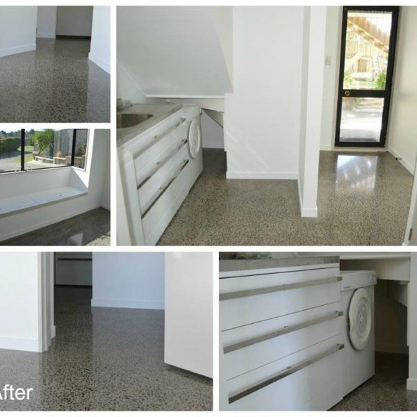Gallery concrete grinding ec flooring contractors ltd for Polished concrete floors nz