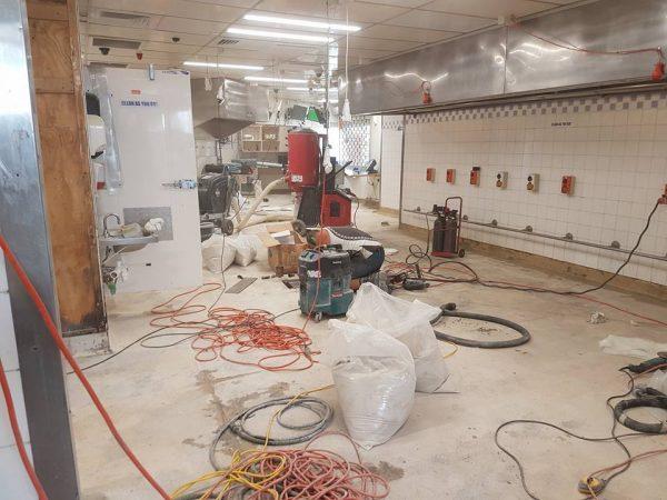 KFC Mangere Terrazzite Floor Prep in progress