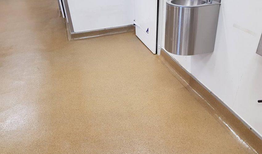terrazzite floor at KFC Mangere